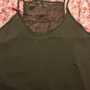 Old Navy Tank Top With Crochet Back 4x